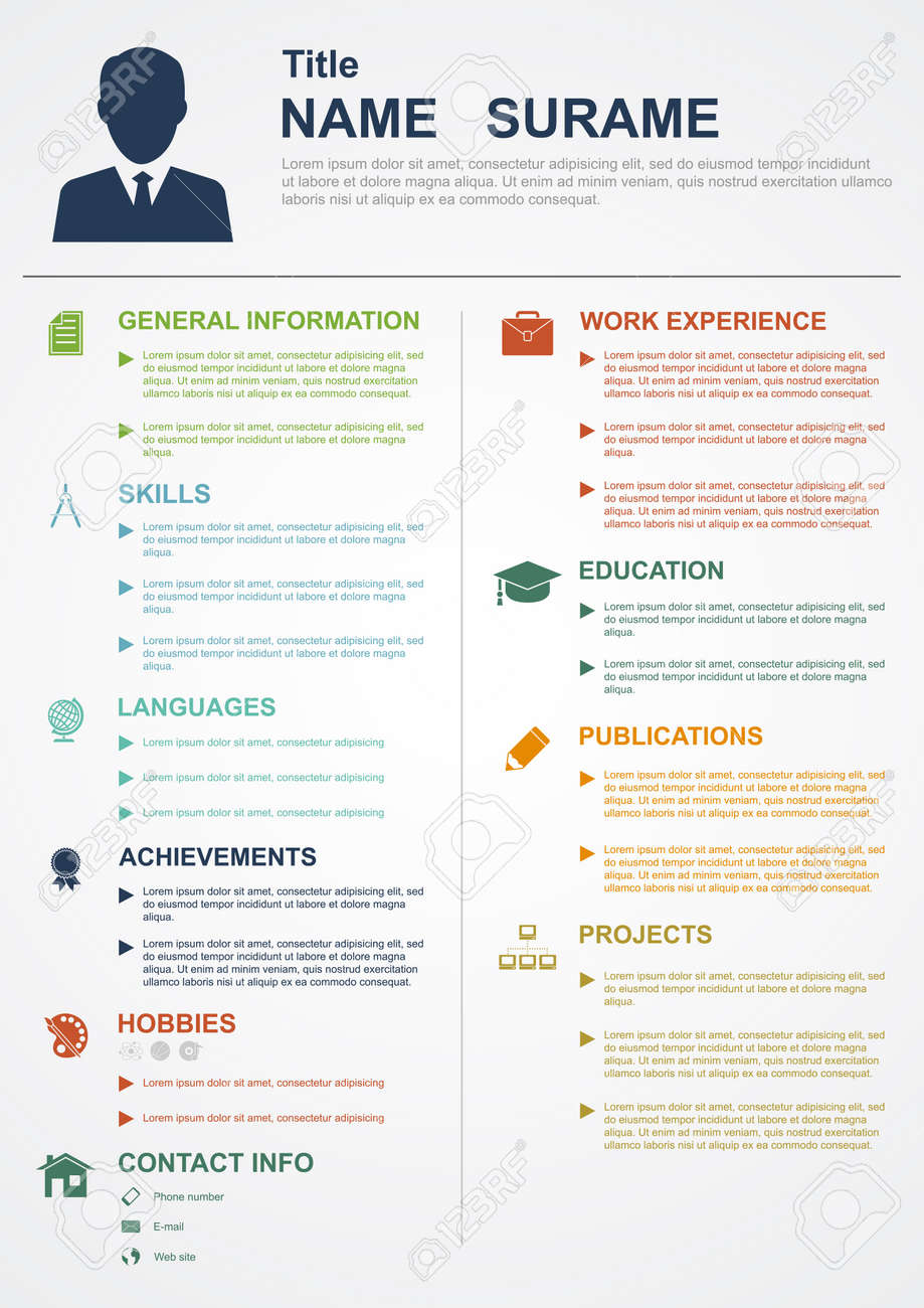 infographic template icons for cv personal profile resume vector infographic template icons for cv personal profile resume organisation