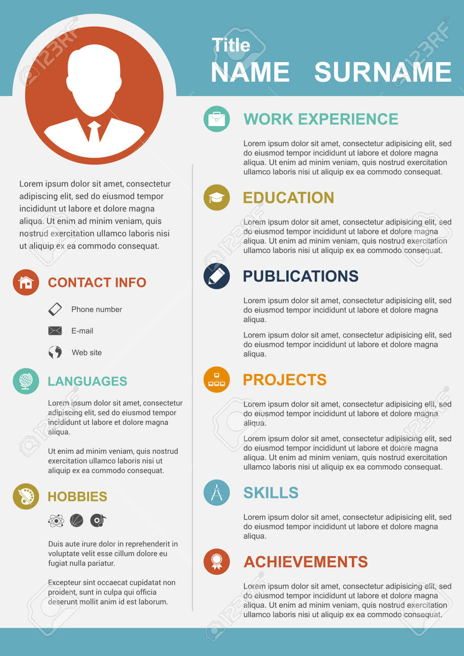 Infographic Template With Icons For Cv, Personal Profile, Resume ...
