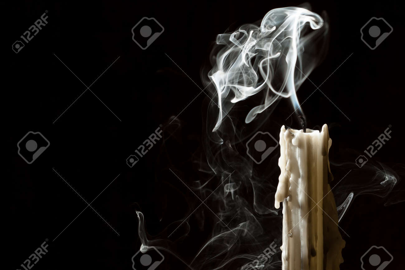 Candle blow off with smoke Stock Photo - 10640566