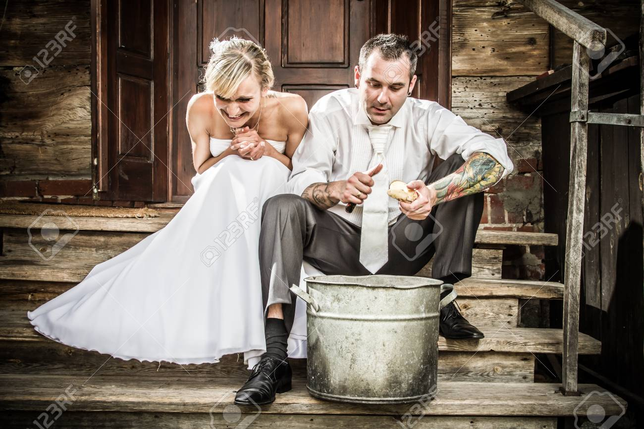 Young couple on the old-fashioned porch Stock Photo - 14443030