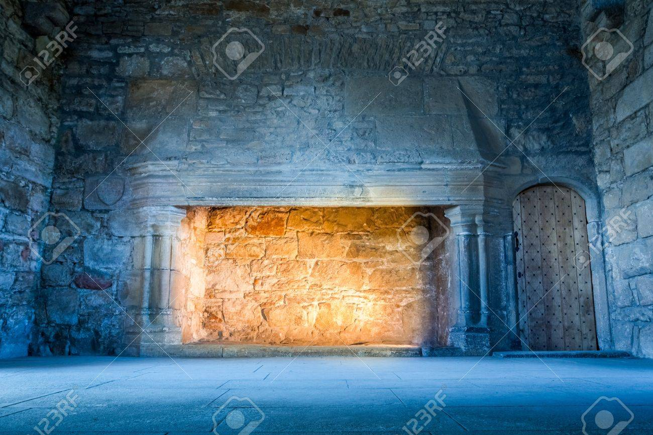 Warm Light In A Cold Medieval Castle Stock Photo, Picture And ...