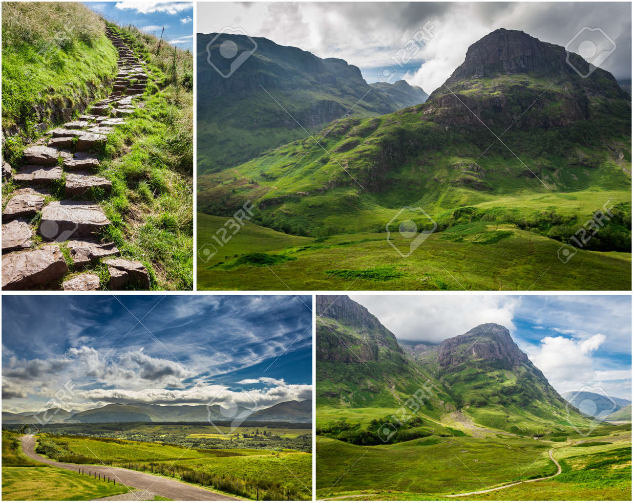 Postcard from the mountains of Scotland Stock Photo - 17234667