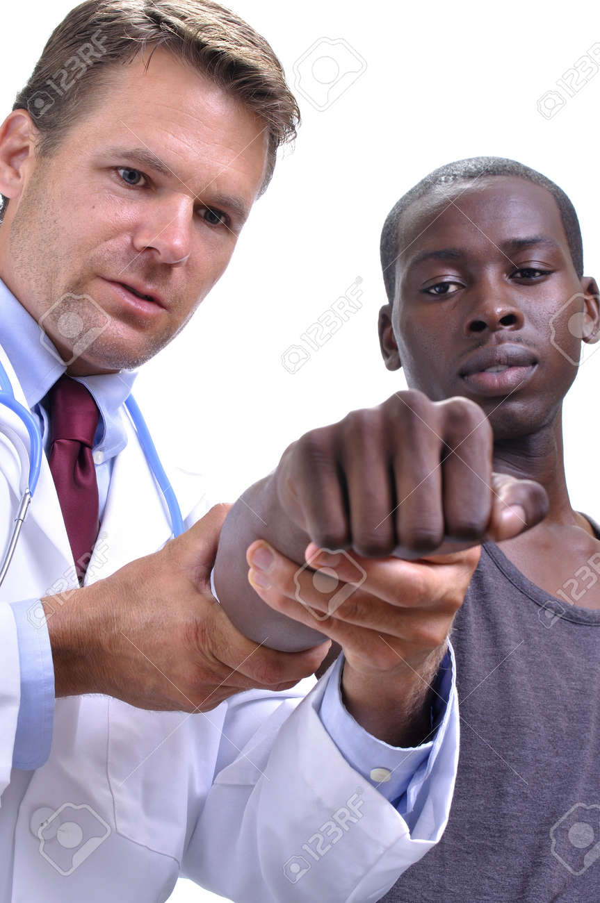 Black Doctor And A White Patient