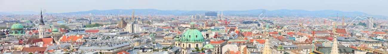 Panoramic photo of city center of Vienna in Austria Stock Photo - 9784329