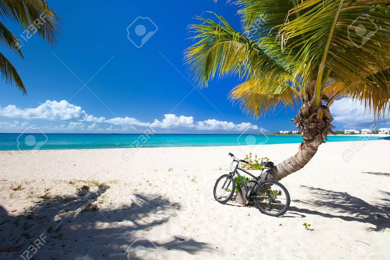 Perfect Caribbean beach on Anguilla island - 22634389