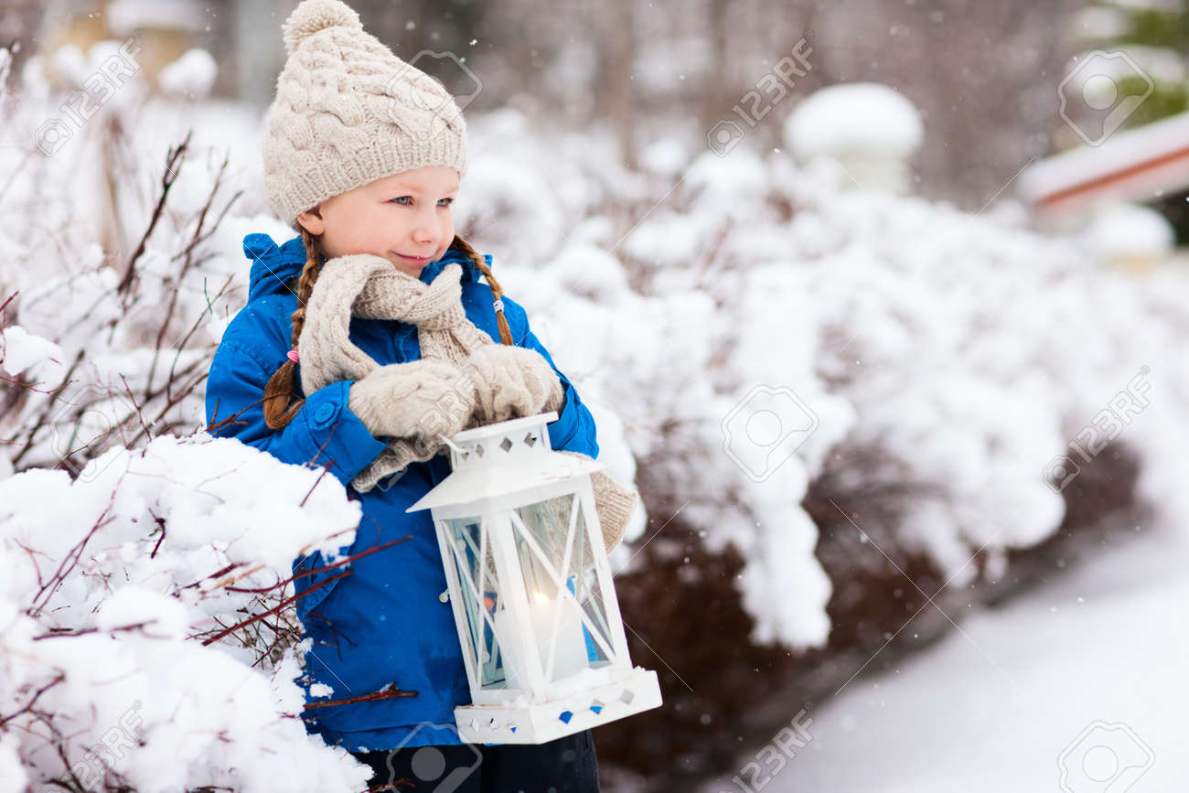 Beautiful christmas snow pictures the snow on christmas day in - Adorable Little Girl Holding Christmas Lantern Outdoors On Beautiful Winter Snow Day Stock Photo 30963506