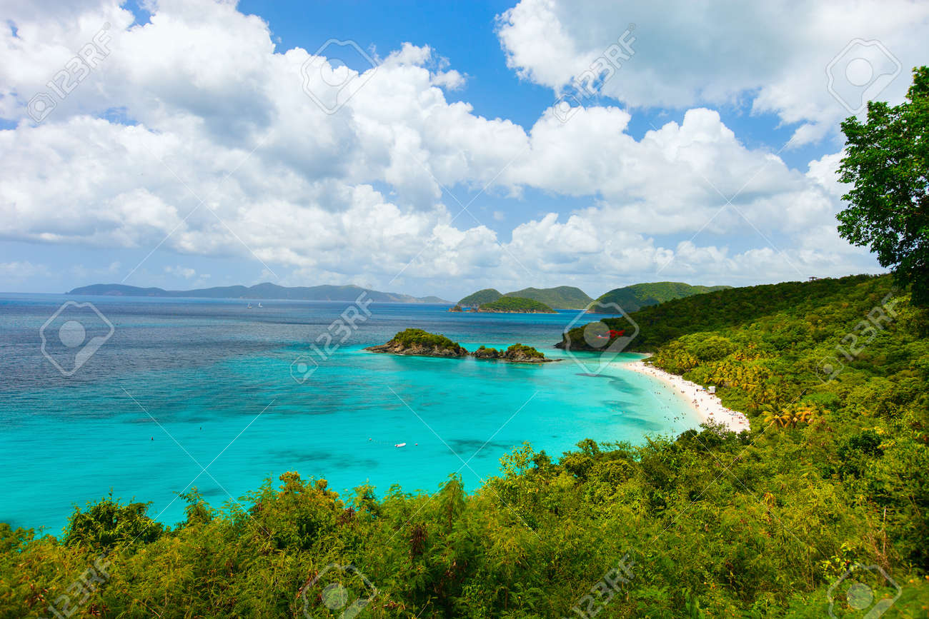 Trunk Bay On Caribbean Island St Stock Photo  Shutterstock