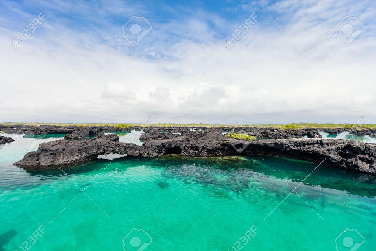 Landscape of Los Tuneles Galapagos islands - 104506139