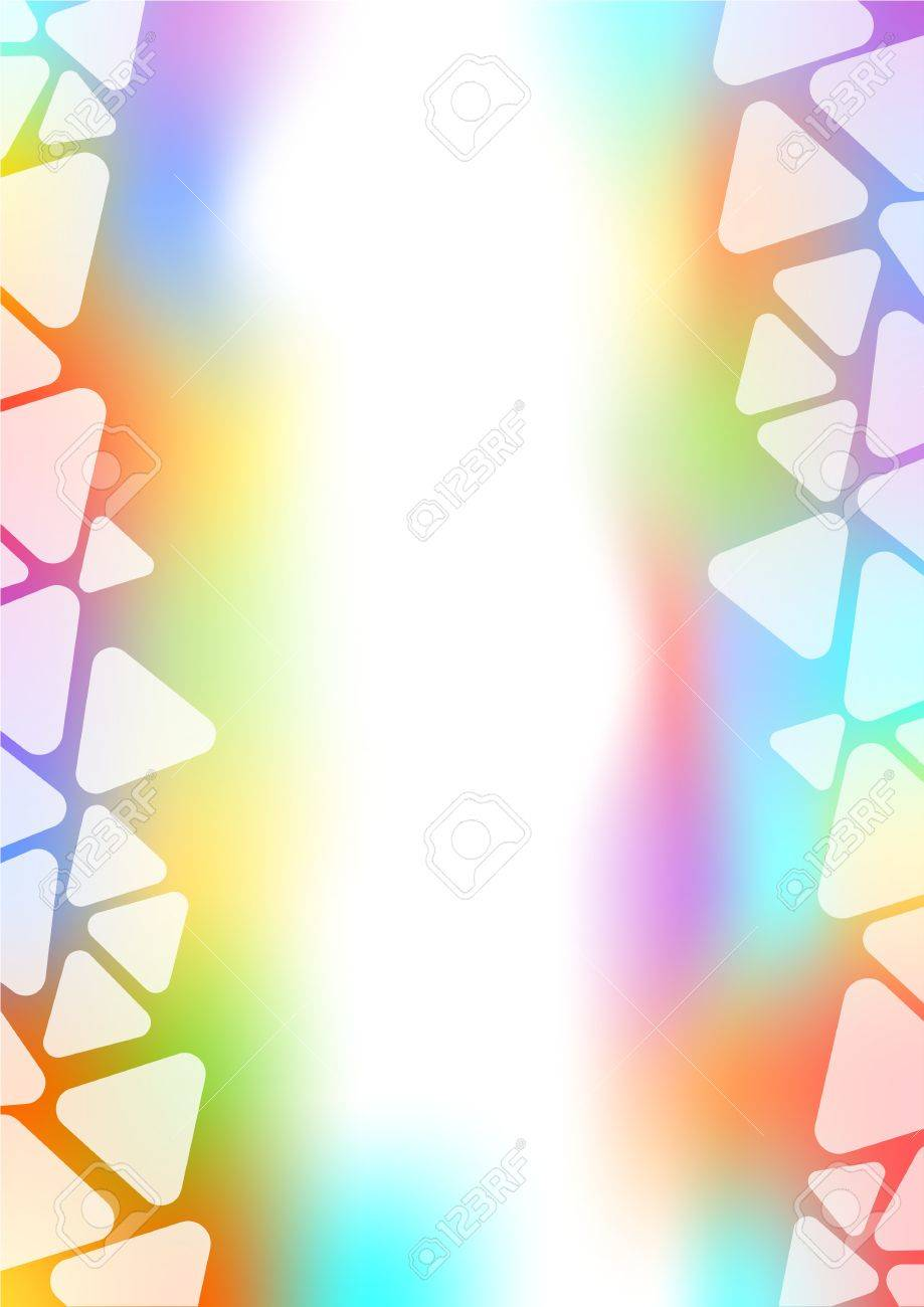 Background With Transparent Triangle Border On Rainbow Pastel