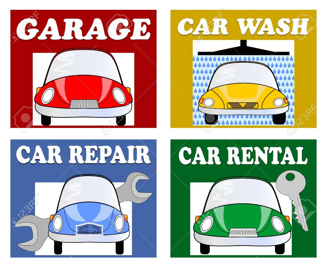 Services For Motorists And Drivers Garage Car Wash Car Repair