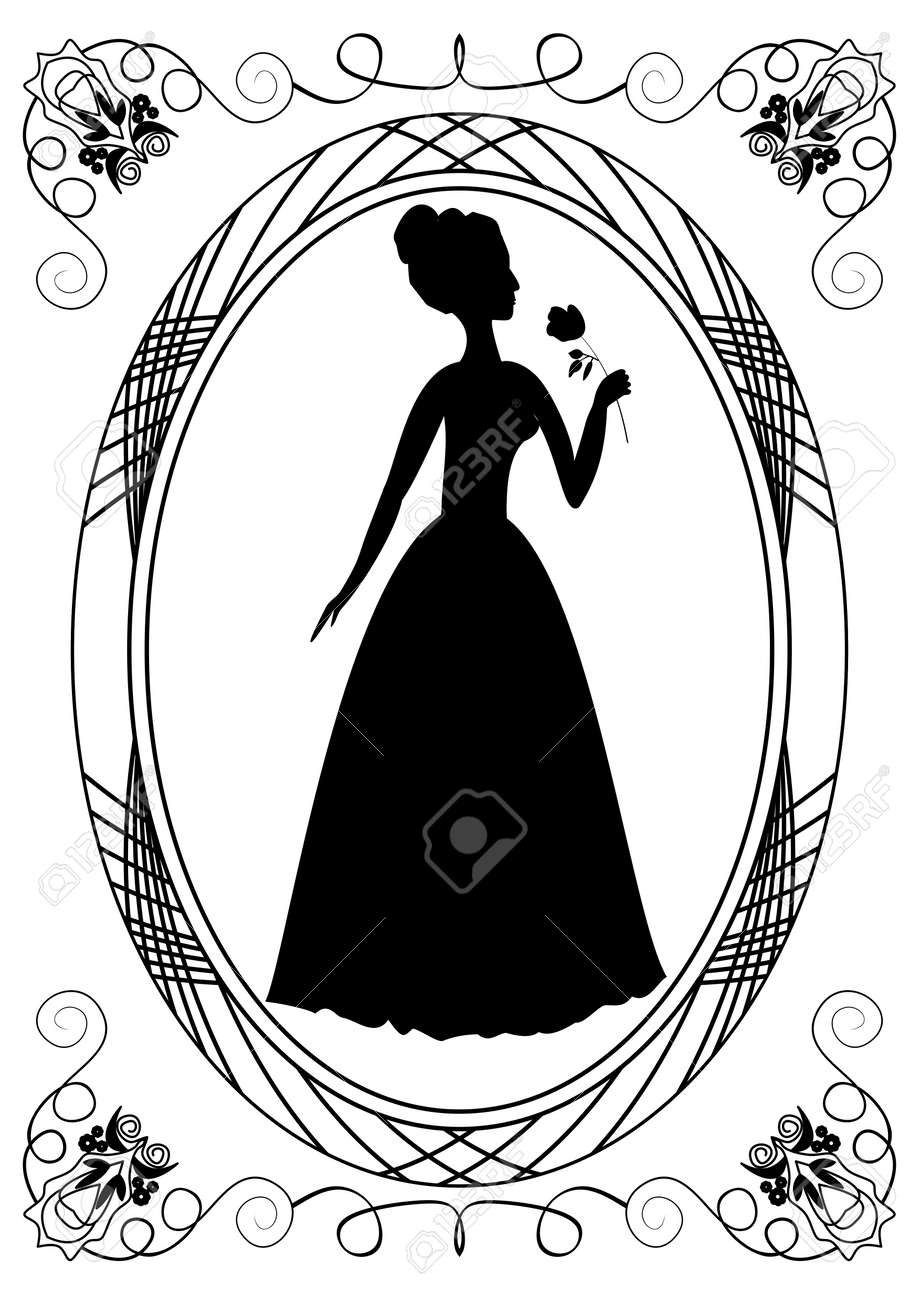 Our lady vector logo illustrations outline template. Our lady of.