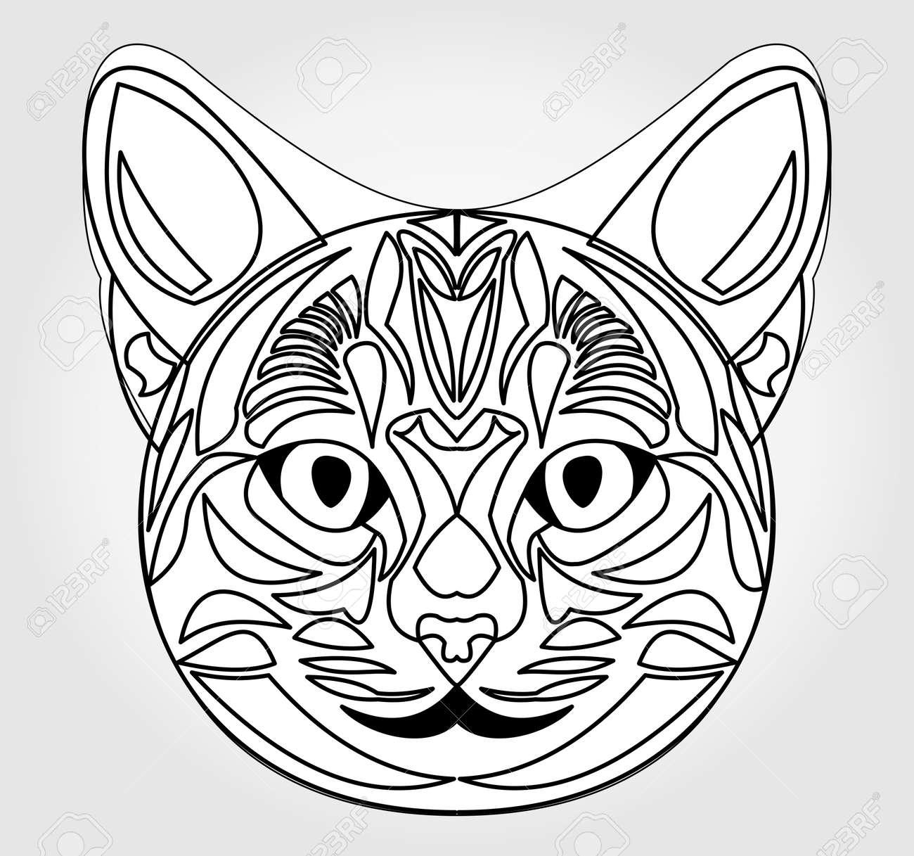 Uncategorized Cat Head Drawing cat head drawing symbol of sun god egyptian mythology egypt sacred animal