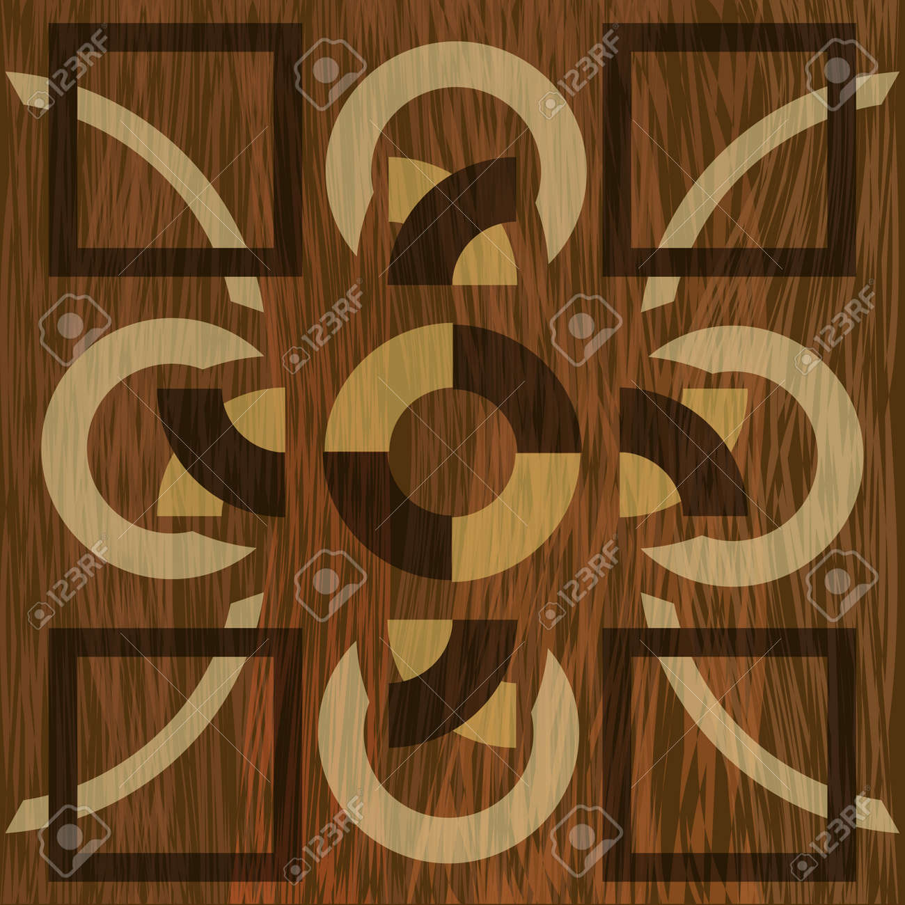 Wooden Inlay Light And Dark Wood Patterns Veneer Textured