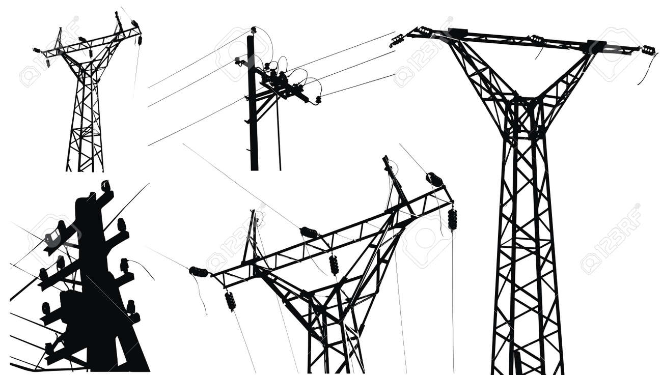 High voltage electricity pole - 5464229