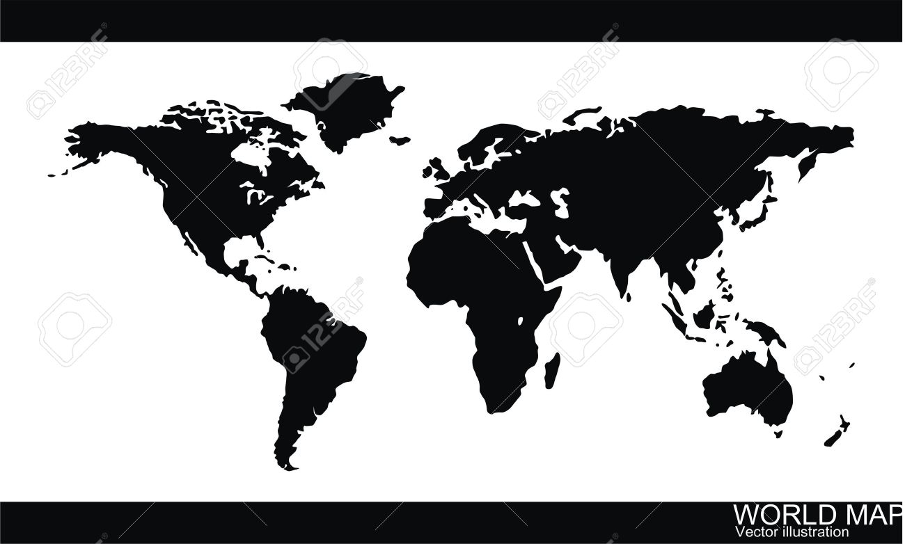 World Map Vector Royalty Free Cliparts Vectors And Stock