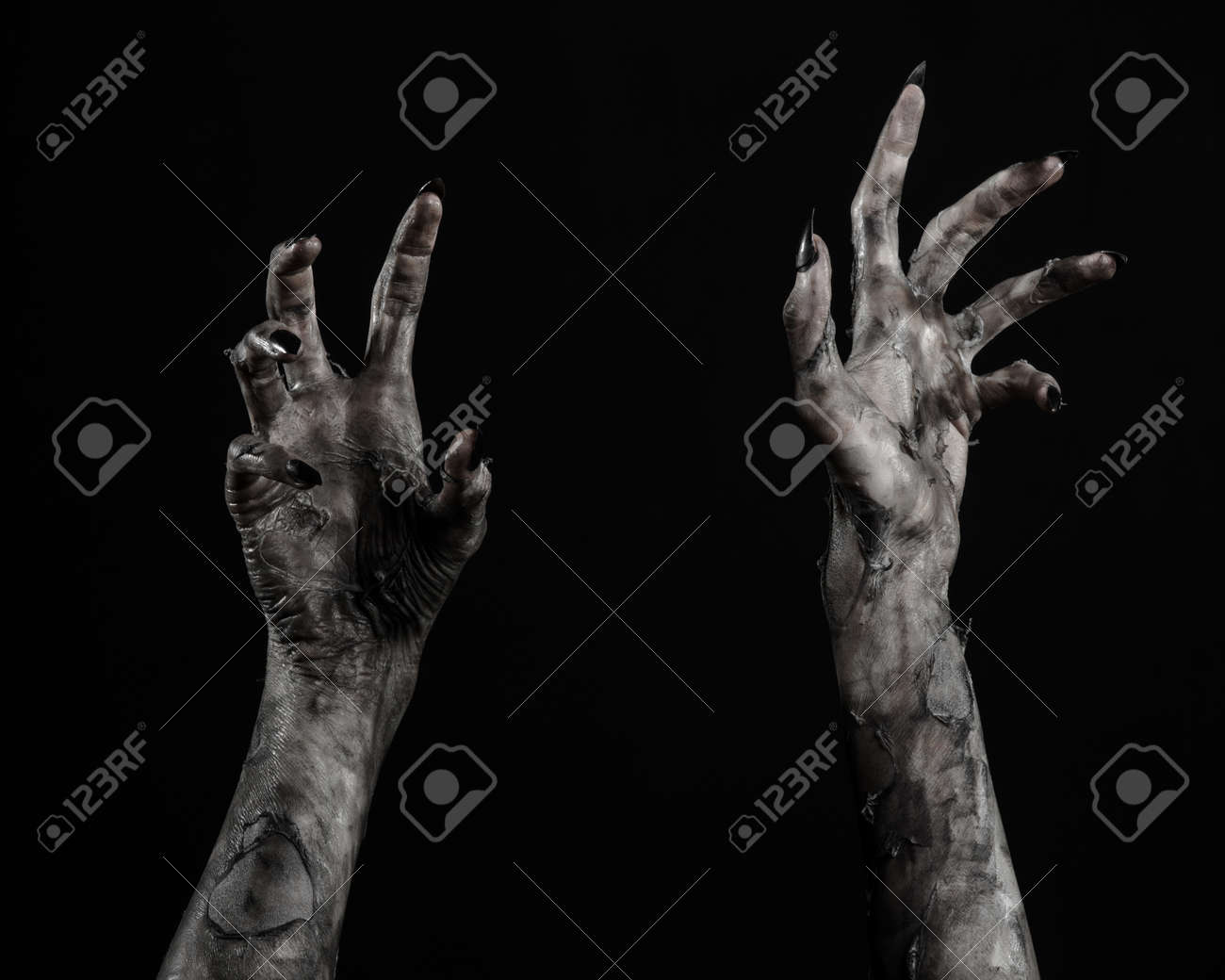 black hand of death the walking dead zombie theme halloween