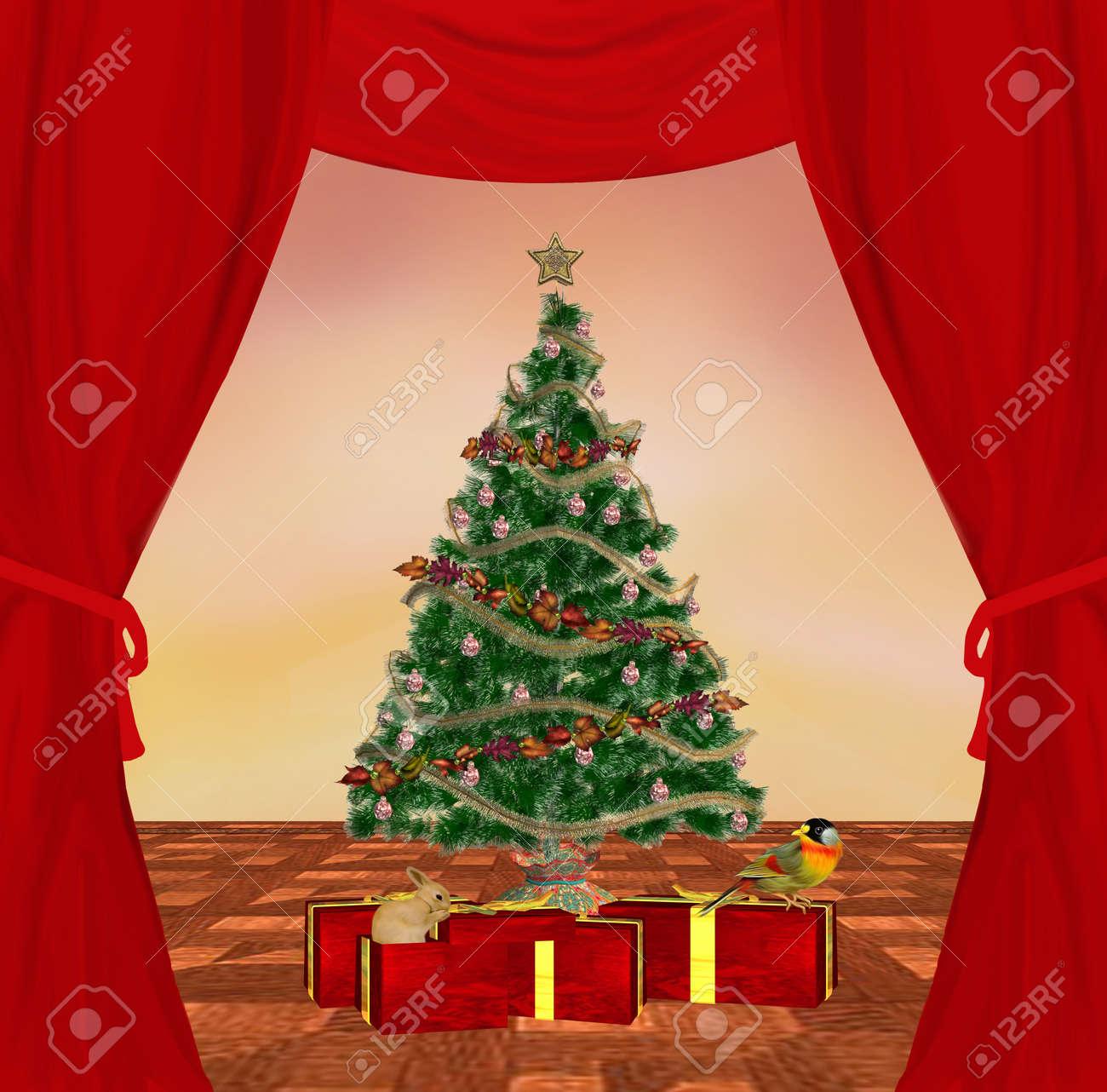 Traditional christmas illustration Stock Illustration - 10866979