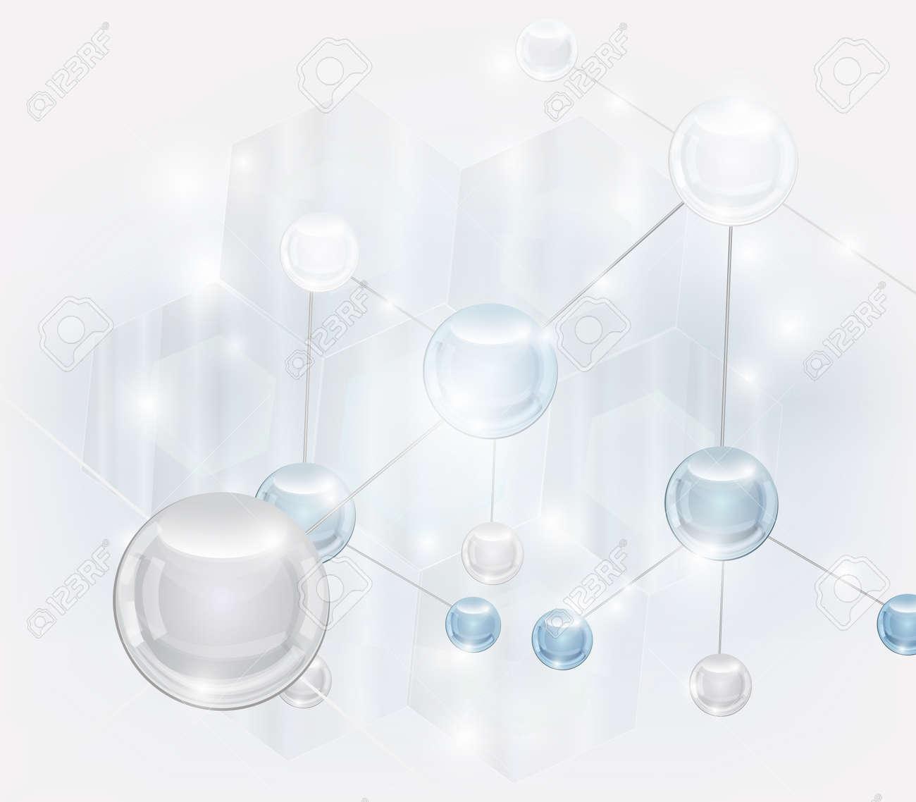 Abstract scientific vector with molecule Stock Vector - 11812993