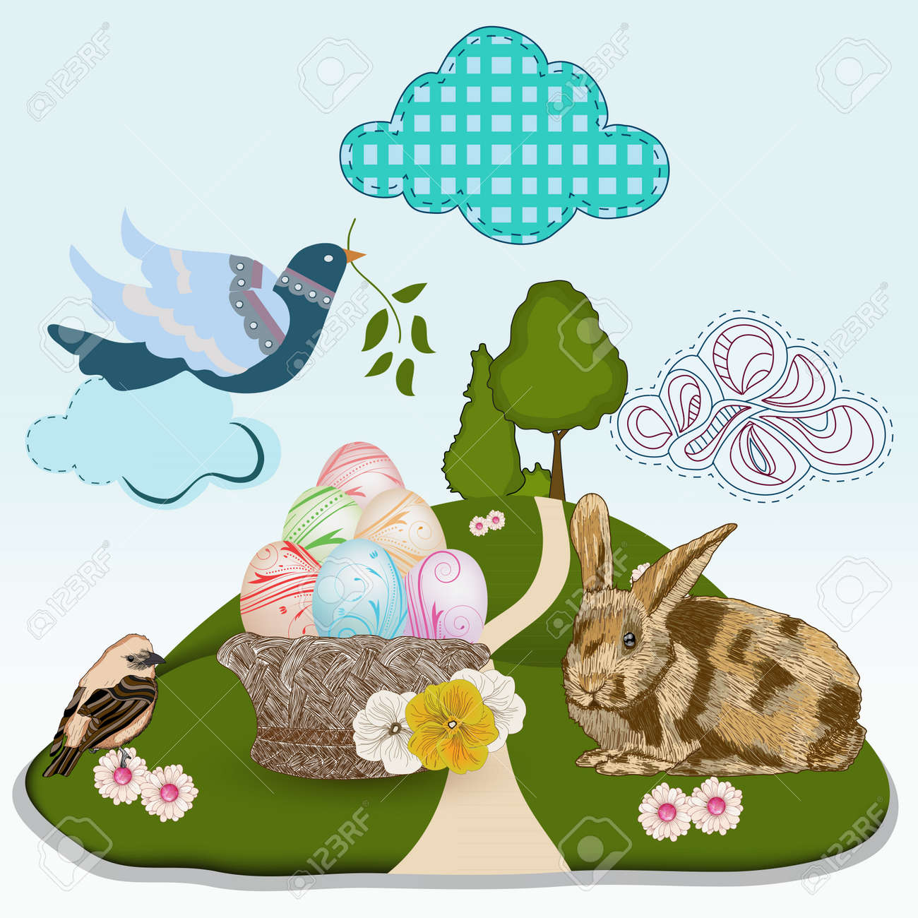 fantasy Easter illustration Stock Vector - 13025976