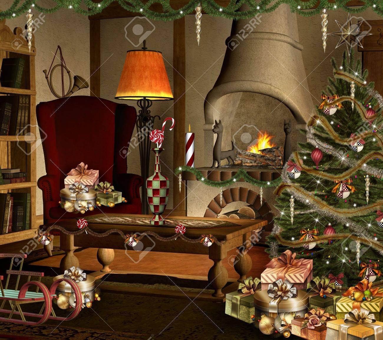 Süße Weihnachts-Zimmer Lizenzfreie Fotos, Bilder Und Stock ...