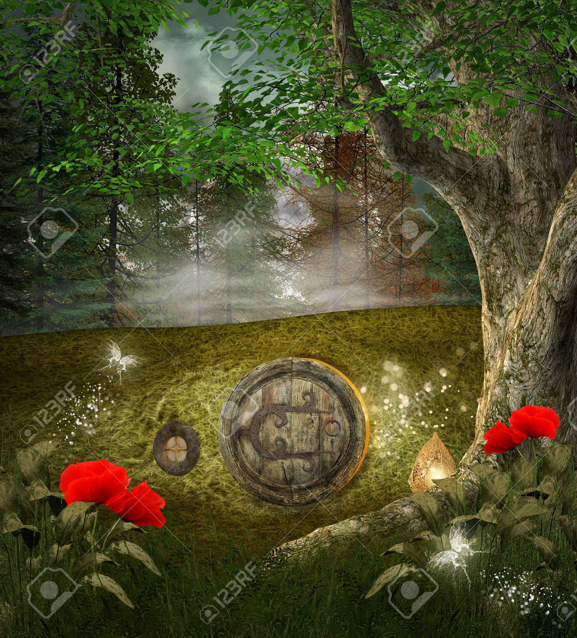 Midsummer night dream series - elves house Stock Photo - 16294925