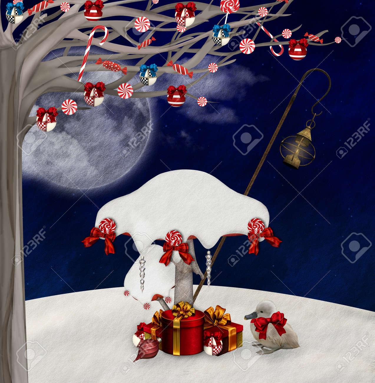 Wonderland series - Christmas mushrooms Stock Photo - 16797386