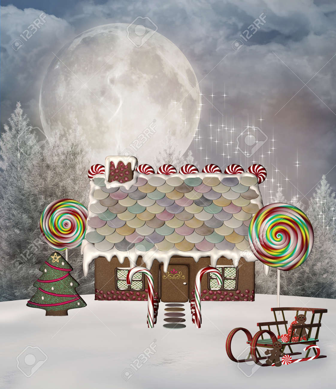 Gingerbread house Stock Photo - 23291334