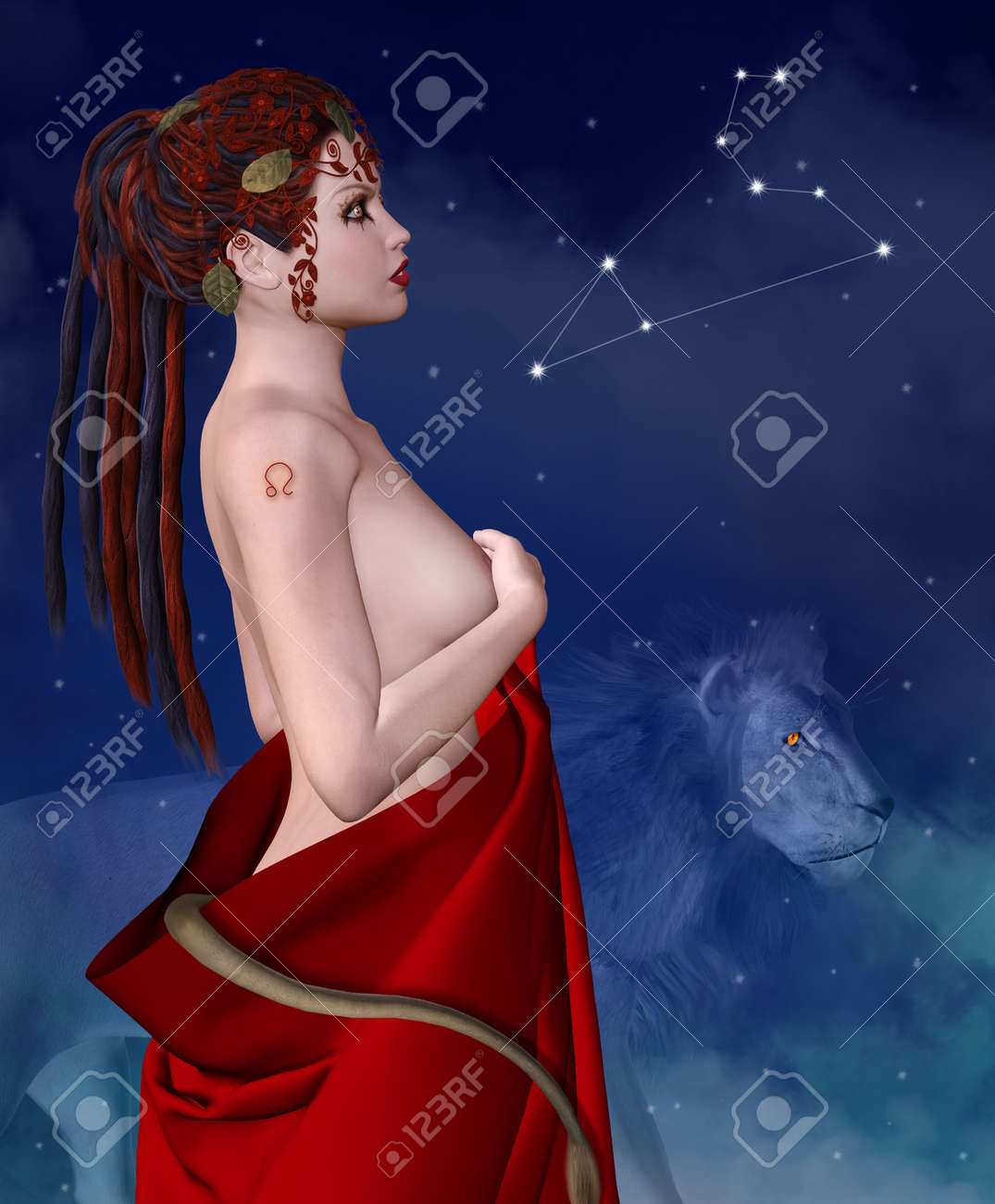 Zodiac series - Leo Stock Photo - 24477673