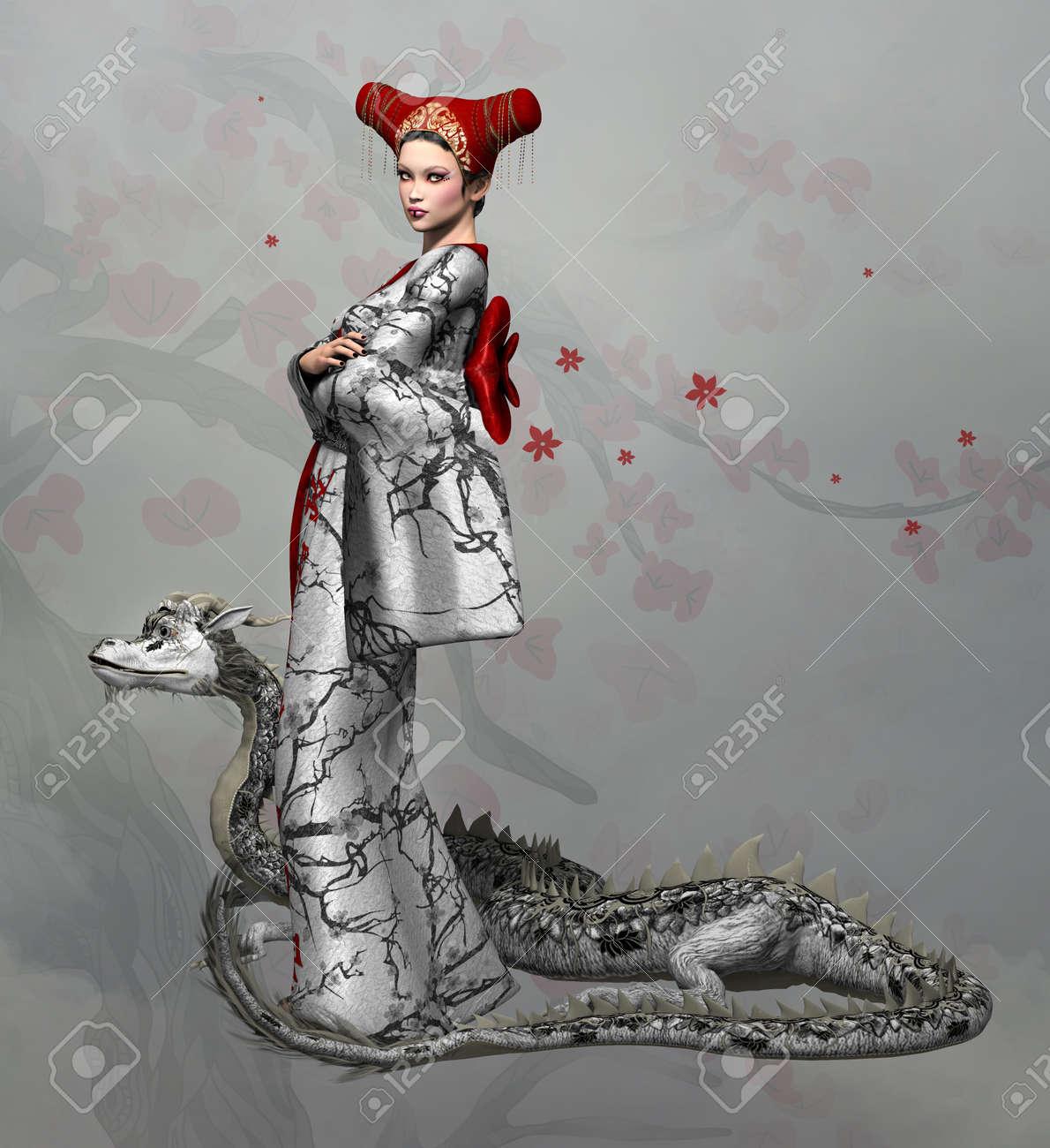 {Fantasy Stencils}11Dragon Oriental