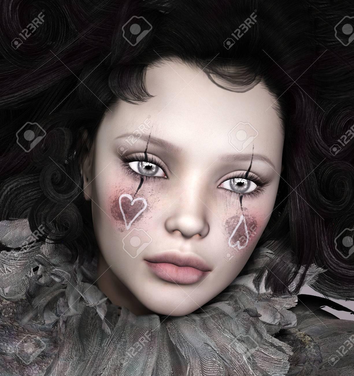 d8988cf3c Foto de archivo - Retrato de una mujer hermosa con maquillaje de fantasía