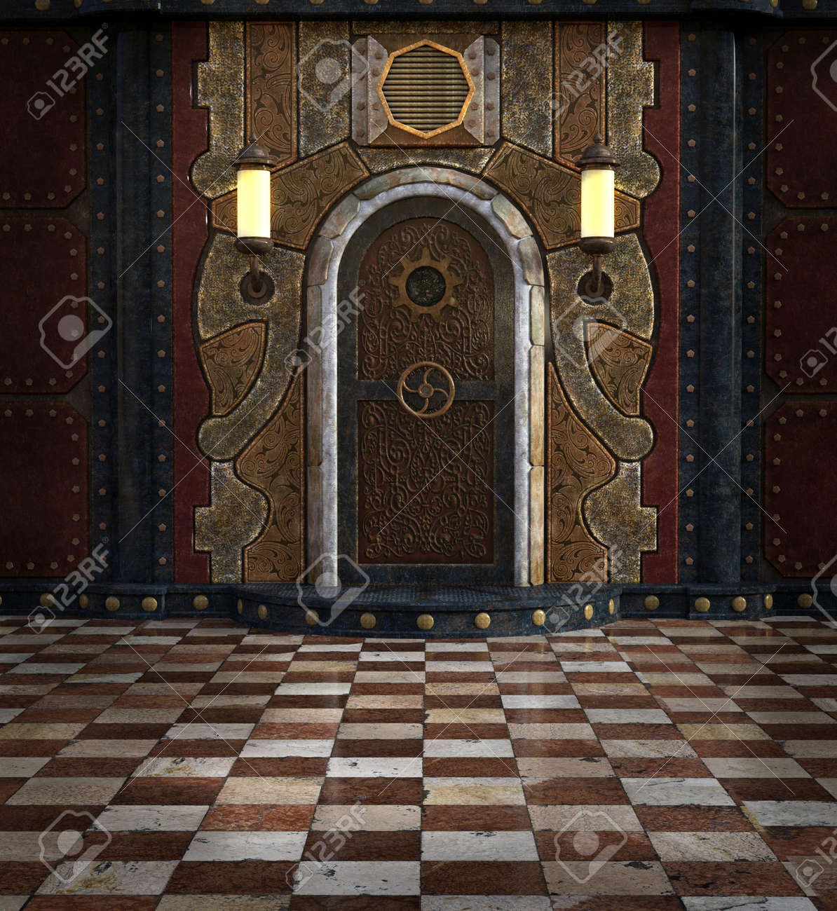 Ste&unk door room Stock Photo - 71475155 & Steampunk Door Room Stock Photo Picture And Royalty Free Image ...