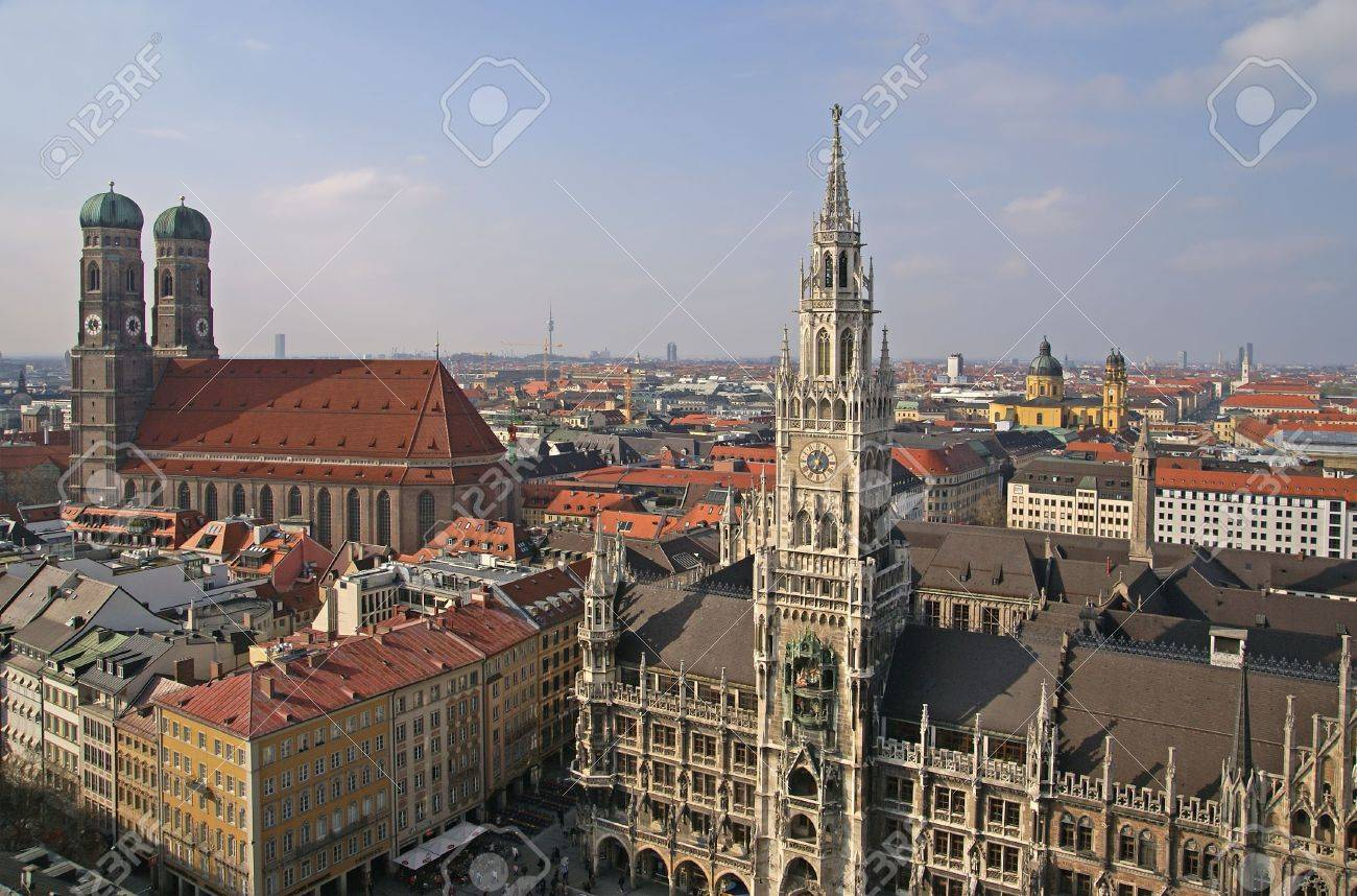 view of historical center of munich Stock Photo - 3275026