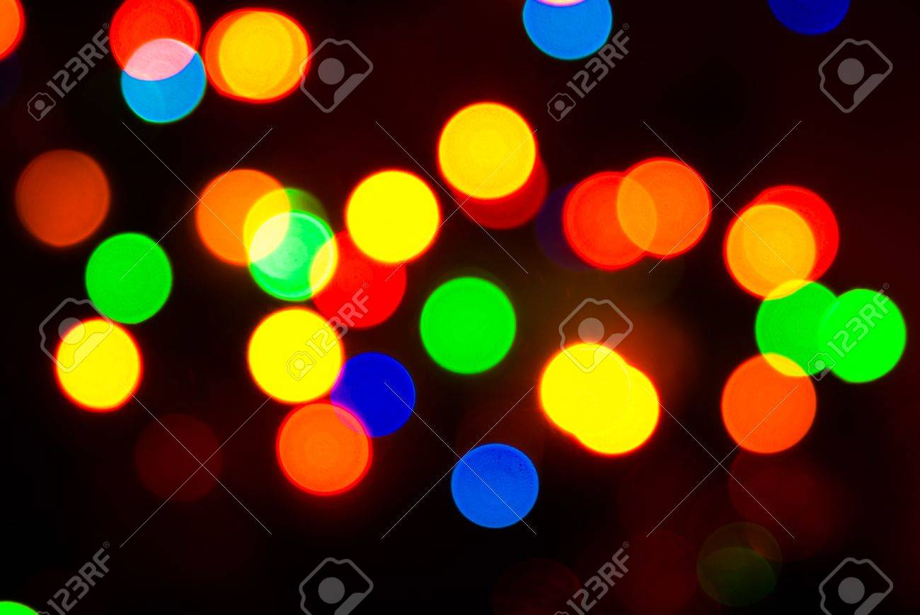 photo of colorful background with defocused neon lights Stock Photo - 25411270