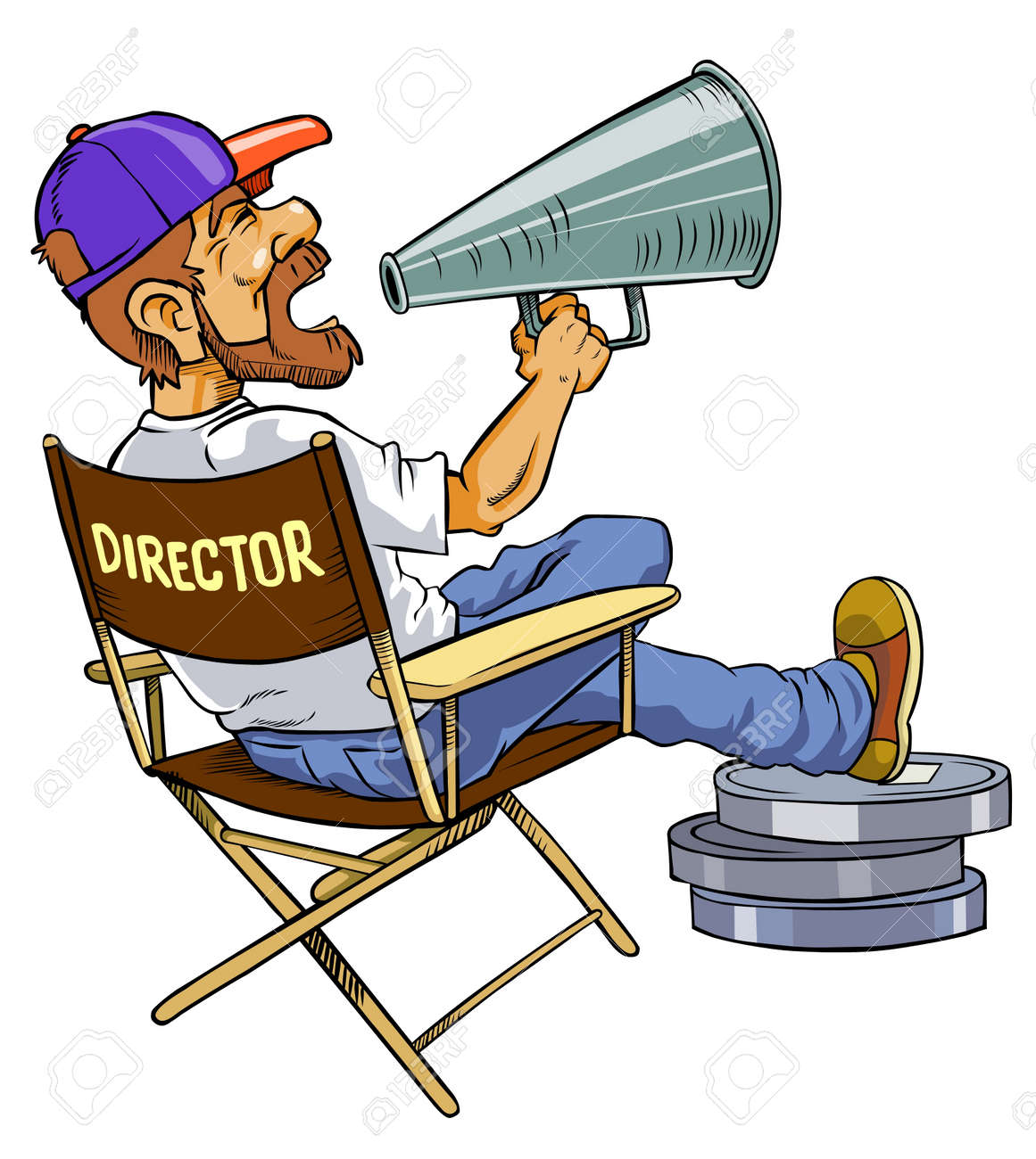 movie director royalty free cliparts vectors and stock