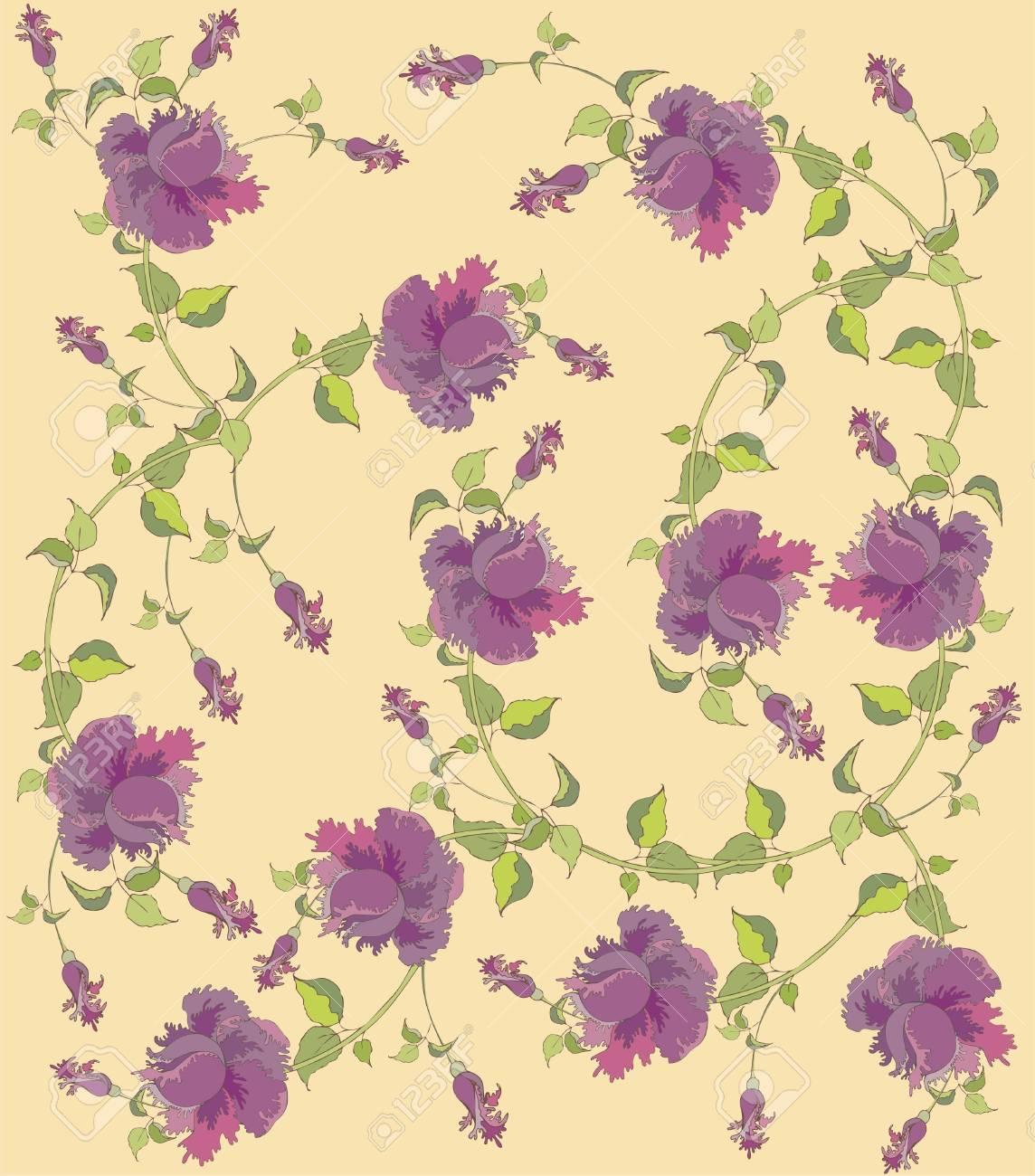 Seamless background.Illustration rose. Stock Vector - 9477341