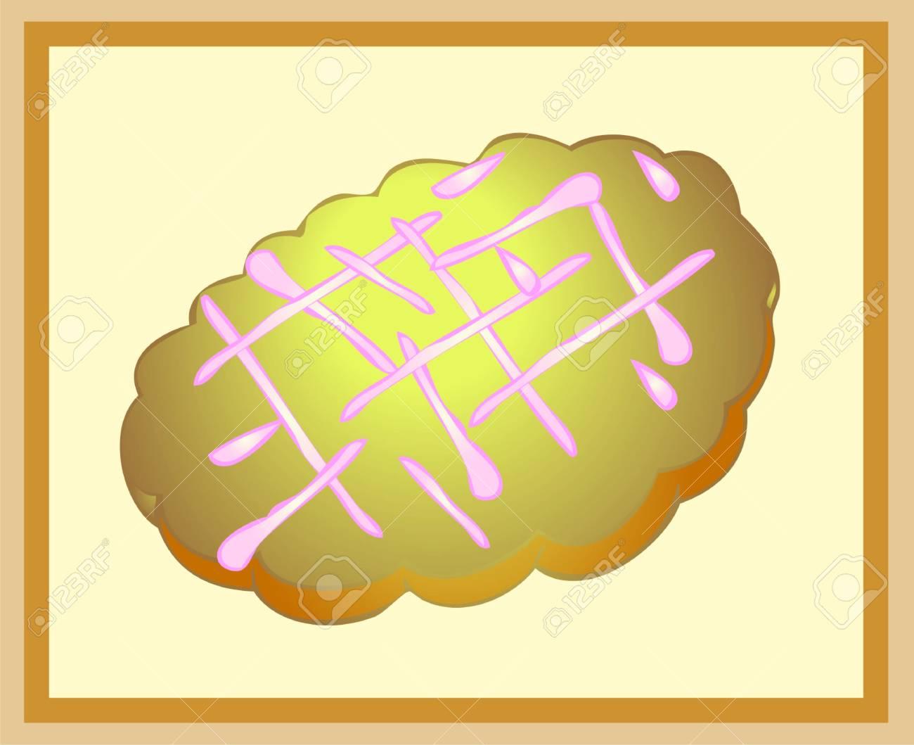 Illustration cookies. Beautiful batch. Beautiful menu. Stock Vector - 9477342
