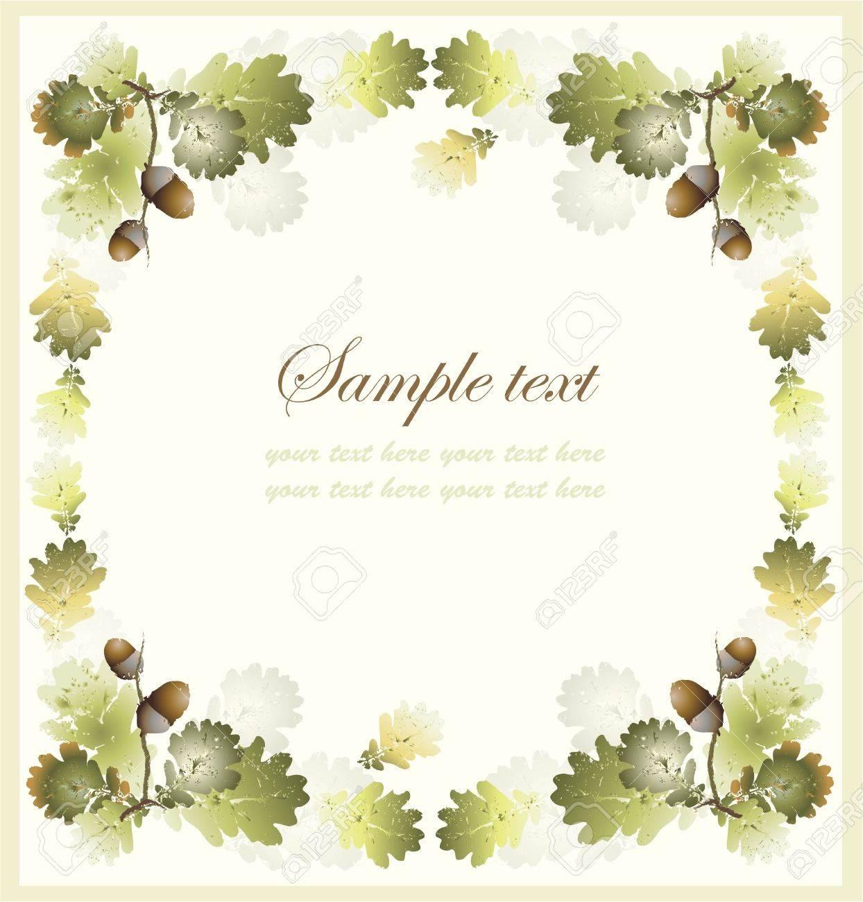 Autumn seamless background. Illustration  acorns. Stock Vector - 10343561