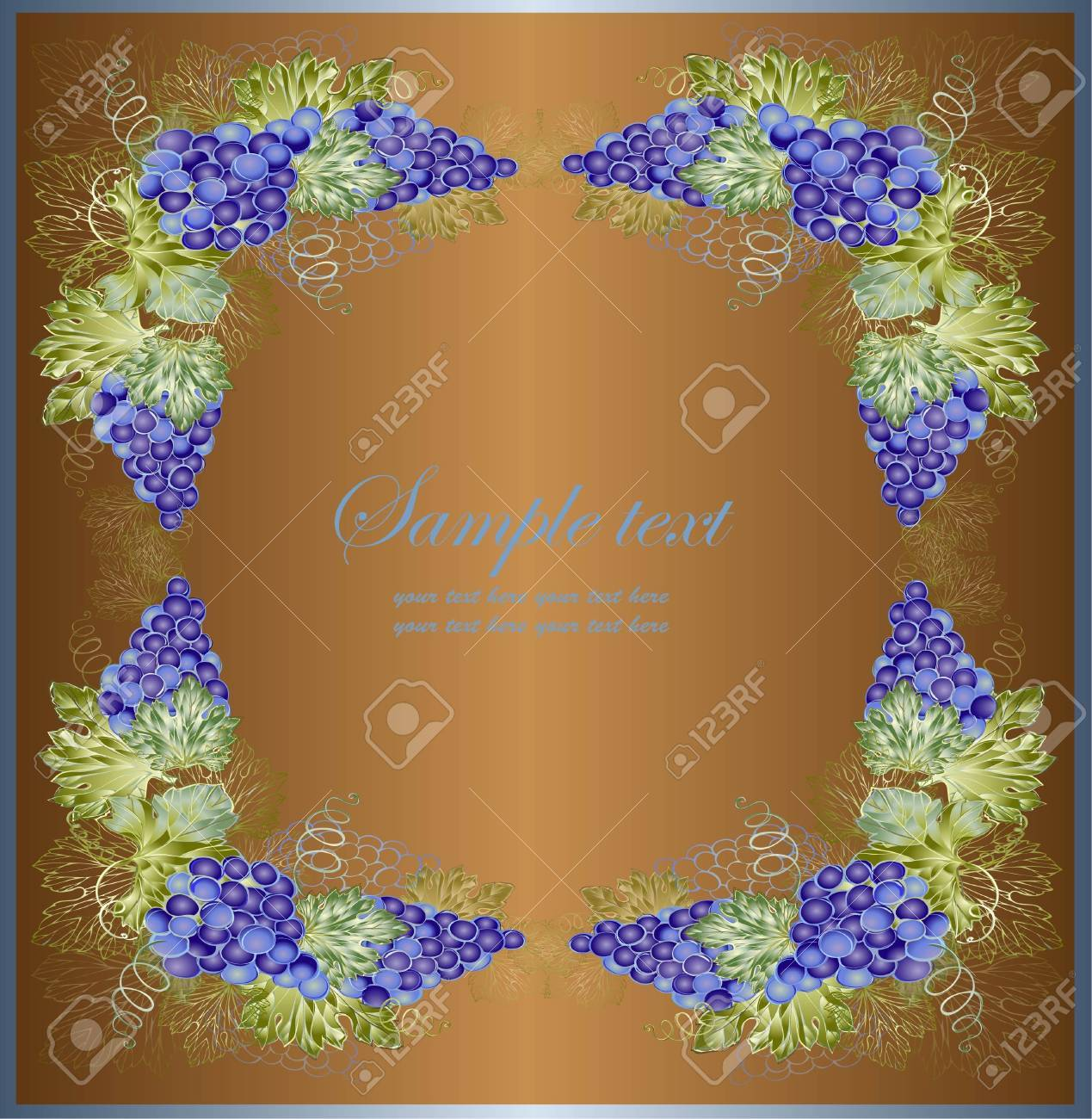Vintage background with grape branch . Rich wine background. Stock Vector - 10670367