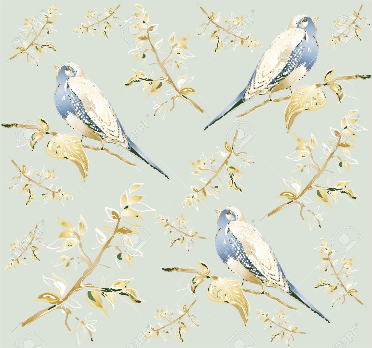 Illustration Of Birds Stock Vector