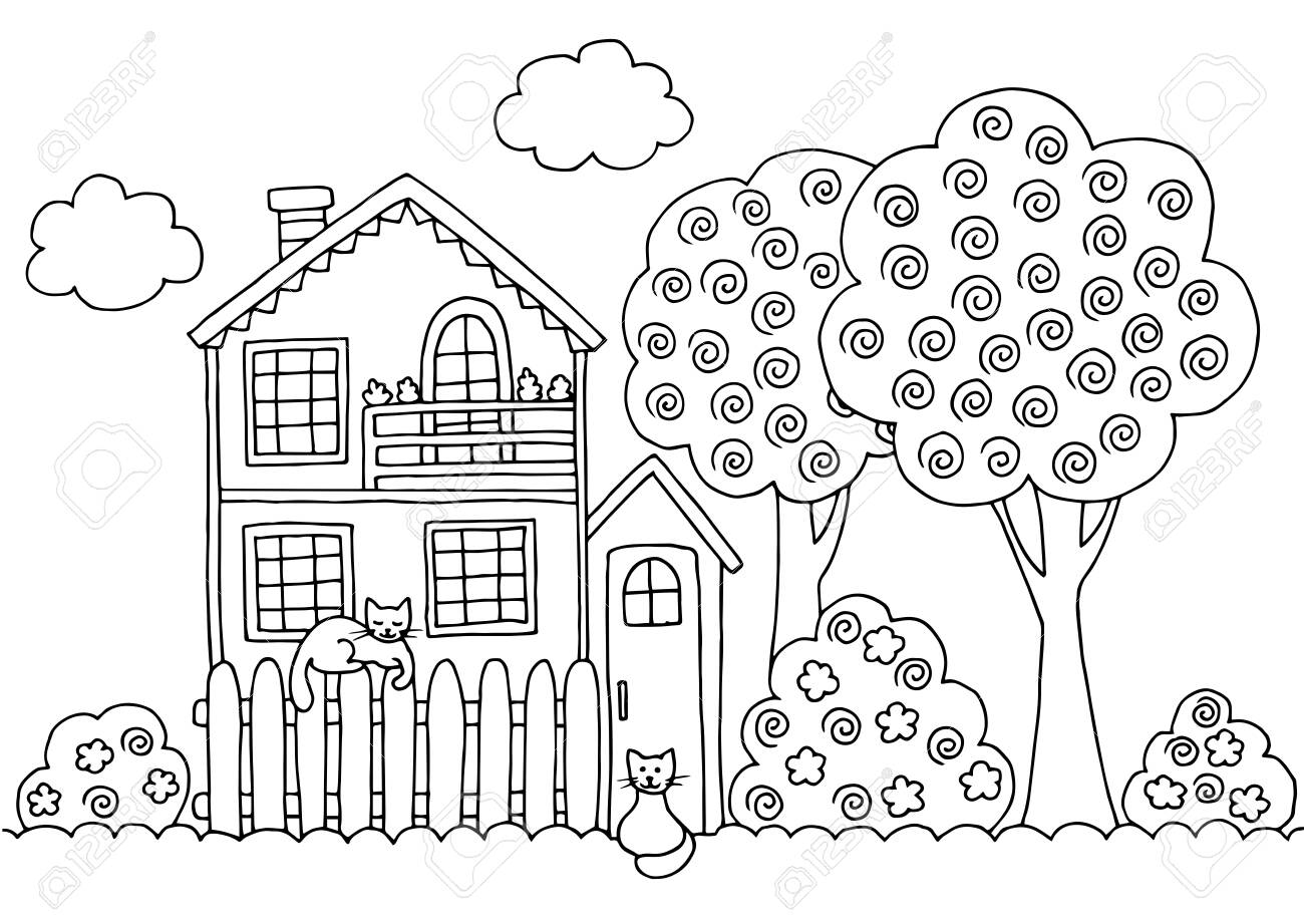 Kids Coloring Pages Trees - Coloring Home | 921x1300