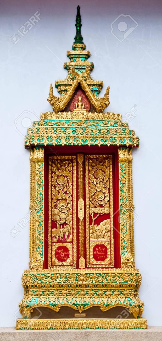 Thailand temple window Stock Photo - 23445063