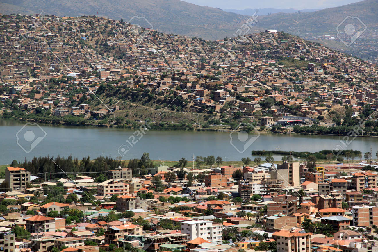 View on the center of Cochabamba from the hill, Bolivia Stock Photo - 7641667