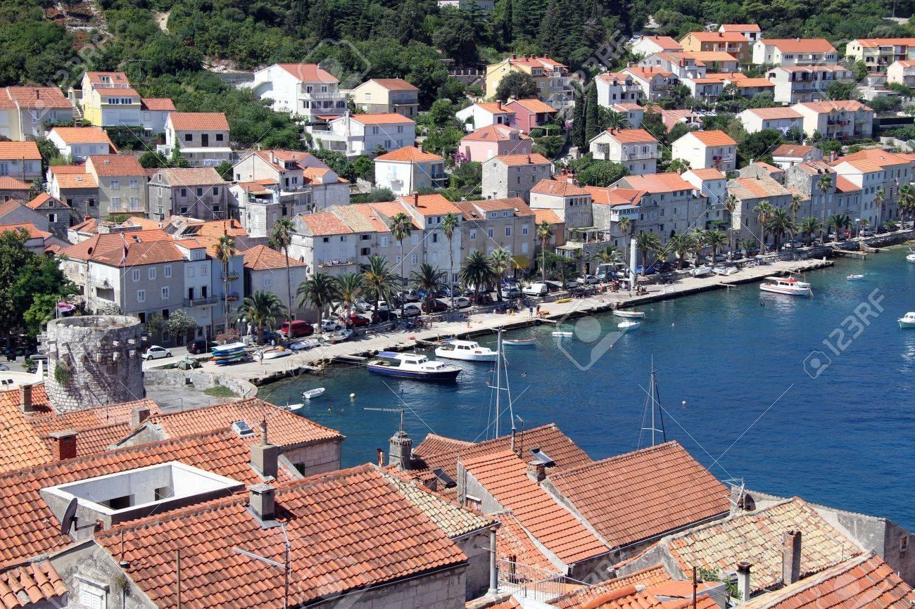 Port of Korchula and boats in Croatia Stock Photo - 14987010