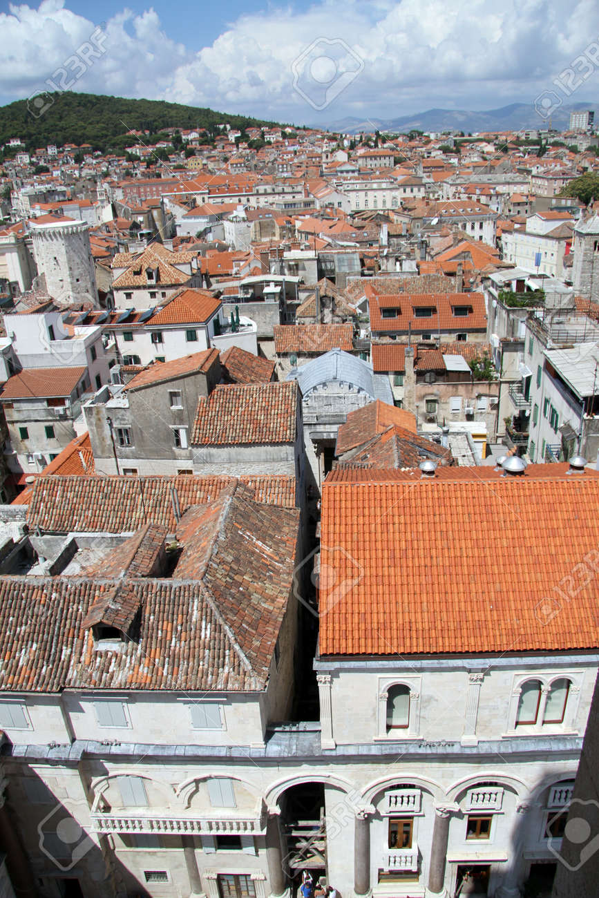 View from bell tower in Split, Croatia Stock Photo - 14987868