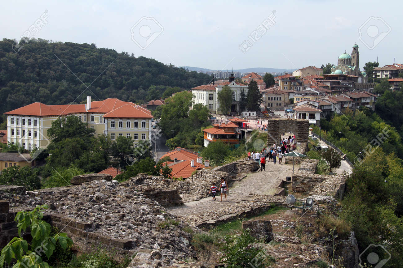 Ruins of fortress and buildings in Veliko Tirnovo, Bulgaria Stock Photo - 15156766