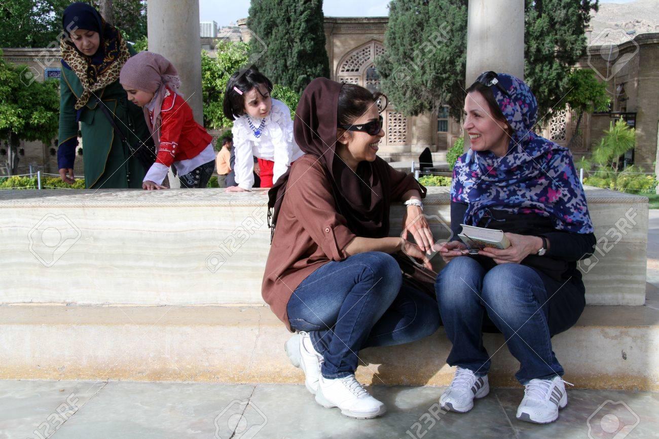 People On The Tomb Of Poet Hafez In Shiraz, Iran Stock Photo ...