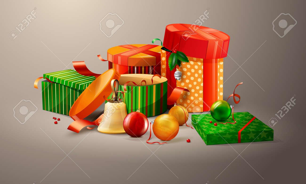 Christmas and Santa present illustration Stock Vector - 8215497