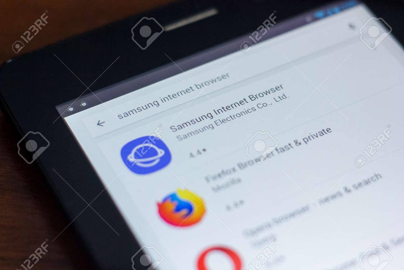 Ryazan, Russia - March 21, 2018 - Samsung Internet Browser icon