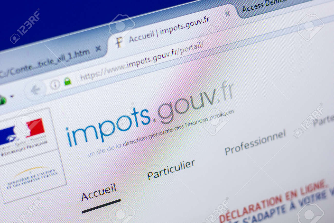 Ryazan Russia May 08 2018 Impots Gouv Website On The Display Of