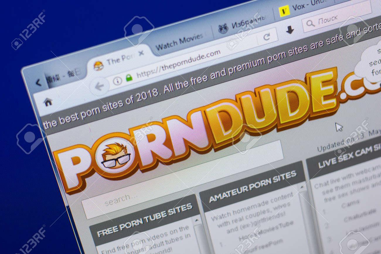 Ryazan Russia May 13 2018 Theporndude Website On The Display Of Pc